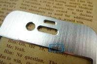 Silver Aluminum Case Skin Sticker For iPhone 4 4G#A601