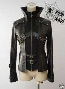 kera Visual Kei Punk Goth Lolita nana blazer Jacket man made leather