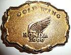 Vintage 70s Honda Gold Wing 1000 Motorcycle Belt Buckle