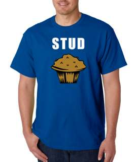 Stud Muffin Sexy Funny Geek 100% Cotton Tee Shirt