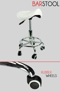 Clinic Stool Doctor Dentist Salon Spa White Chair PU Leather