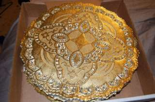 12 gold Foil Round Lace Doilies 100 ct HIGH END DOILY