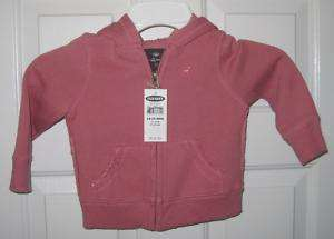 NWT TODDLER GIRLS OLD NAVY MAUVE JACKET SIZE 3T |