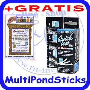 5in1 Colombo Quick Test Gartenteich Wassertest +GRATIS MultiPondSticks