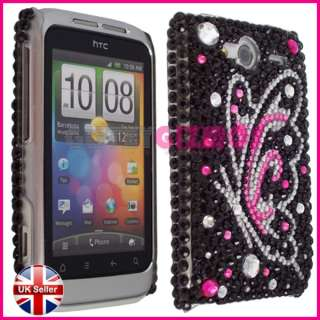 DIAMOND BLING CRYSTAL CASE COVER FOR HTC WILDFIRE S