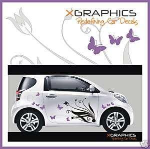 Toyota IQ Yaris MR2 Car Car Art Kit Flowers Stickers