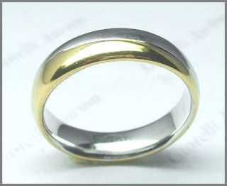 Coppia fedi nuziali bicolore oro bianco e giallo 18 kt.