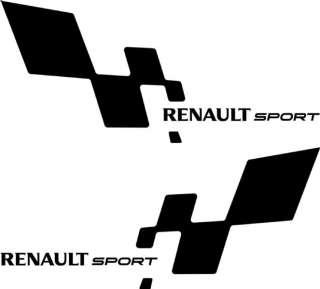 2 stickers Renault sport 38x17cm