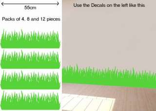 Grass Skirting Child/Kids Room Vinyl Wall Sticker/Decal