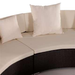 runde design poly rattan lounge sofa garten garnitur. Black Bedroom Furniture Sets. Home Design Ideas