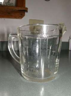 VINTAGE FIRE KING FIREKING MEASURING CUP GLASS KITCHEN