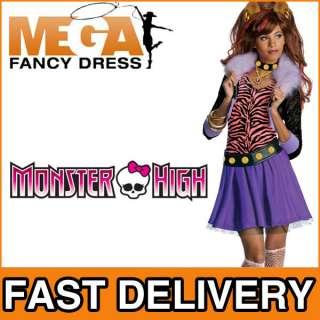 Girls Clawdeen Wolf Monster High Fancy Dress Halloween Kids Costume