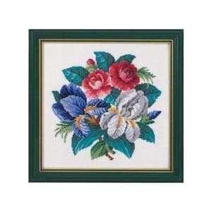 Roses & Iris Counted Cross Stitch Kit: Arts, Crafts