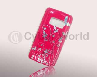 Pink Butterfly Design Hard Back Case Cover Nokia C6 01