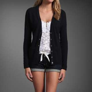 NWT Abercrombie & fitch Women Mallory Cardigan Sweater Shirt 100%