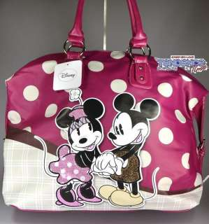 BORSA MINNIE E TOPOLINO DISNEY GRANDE CHIC ORIGINALE BAG ECO PELLE