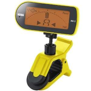 Korg AW 2G Clip On Chromatic Guitar Tuner   Yellow