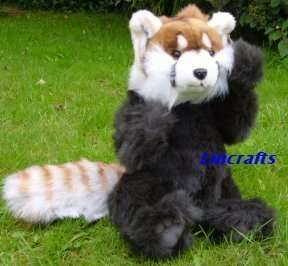 Jointed Red Panda .Plush soft toy by Hansa. New Import