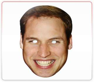 Prince Williams Celebrity Funny Face Mask Ideal For Fancy Dress Hen