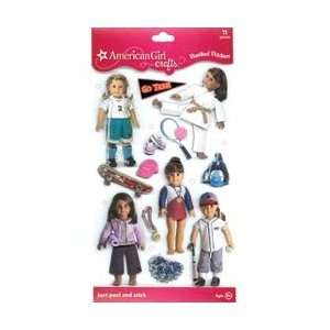 American Girl Stacked Stickers Sports Doll; 3 Items/Order