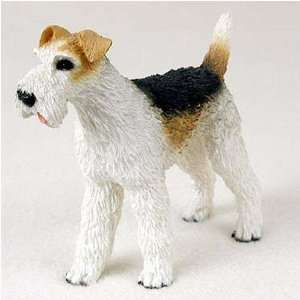 Wirehaired Fox Terrier Original Dog Figurine (4in 5in