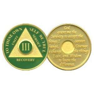 3 Year 24K Gold Plated AA Birthday   Anniversary Recovery