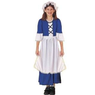 Girls Halloween Colonial Pioneer School Play Costume S Girls Small (3