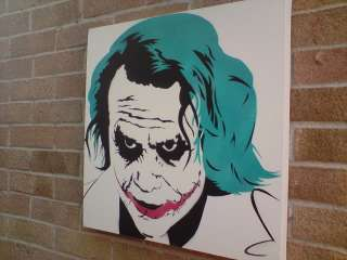 Heath Ledger Joker Art Painting on Canvas Stencil Art