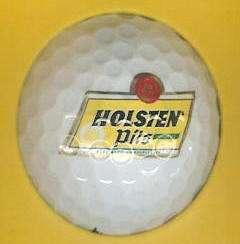 BEER logo golf ball HOLSTEN PILS IMPORTED