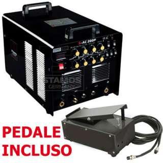 SALDATRICE INVERTER TIG AC/DC 200 AMP PER ALLUMINIO ^
