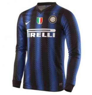 2010 11 Inter Milan Home Long Sleeve Nike Football Shirt   $82.51