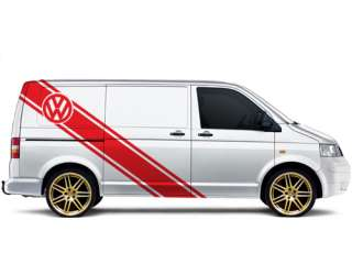 VW Volkswagen Transporter  T4 T5 XL racing stripes 022