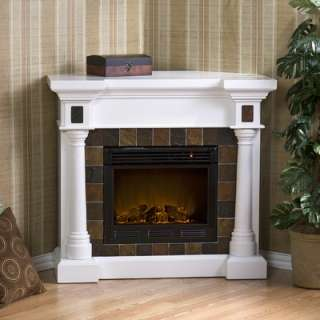 Home Pearl 46 TV Stand with Electric Fireplace in Cherry   DTO2240F