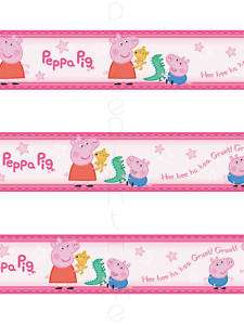 PEPPA PIG & GEORGE SELF ADHESIVE WALLPAPER BORDER NEW