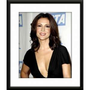 Alyssa Milano Framed And Matted 8x10 Color Photo (Black