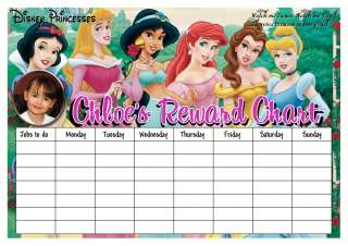 NEW girls *PERSONALISED* reward chart JUSTIN BIEBER, ONE DIRECTION etc