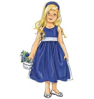 B 5458 Patron couture robe demoiselle dhonn 6 8ans