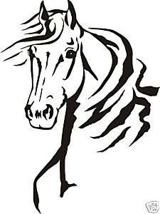 LARGE HORSE HEAD STICKER FOR UTE 4WD HORSE FLOAT TRUCK