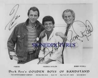 FABIAN FRANKIE AVALON AND BOBBIE RYDELL SIGNED RP PHOTO