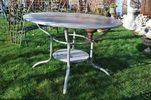 TABLE RONDE EN FER FORGE DE JARDIN