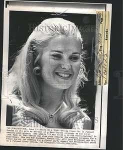 1972 Press Photo Tricia Nixon Cox First Wedding Anniv