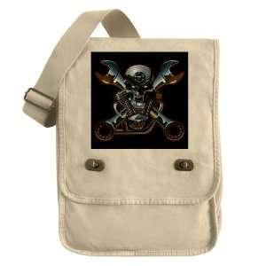 : Messenger Field Bag Khaki Motorhead Skull Wrenches: Everything Else