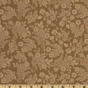 44 Wide A E Nathan Floral Vines Taupe Fabric By The Yard
