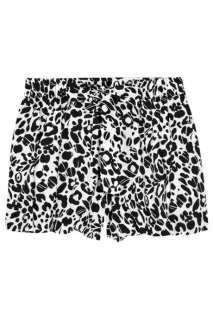 Anna Molinari Cheetah print cotton blend shorts   88% Off Now at THE