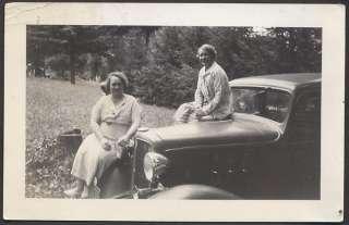 Vintage Car Photo Ladies w/ 1933 Chevrolet Chevy 693158