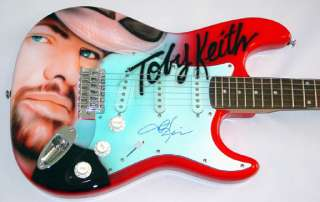 Toby Keith Autographed Signed Custom Airbrush Guitar & Proof UACC RD