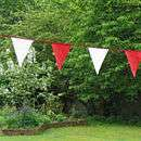 my choice coloured fabric bunting by zigzag bunting