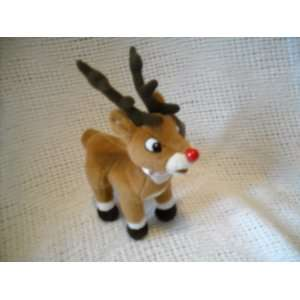 Red Nosed Reindeer Young Buck Rudolph Stuffed Plush Bean Toys & Games
