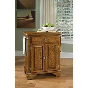 Home Styles Premium Cuisine Kitchen Cart   Oak