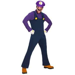 Super Mario Bros.   Waluigi Deluxe Adult Costume, 801076